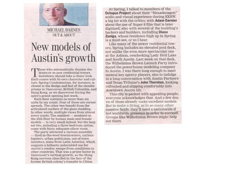 Austin American-Statesman Wilhelmina Brown 4.2